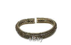 1930's Chinese Gilt Silver Enamel Bangle bracelet Chirography