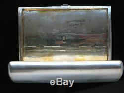 19th Chinese Export Silver Gilt Case Snuff Box by Kwong Wa