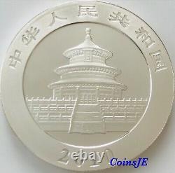 2010 1oz. 999 Silver Chinese Panda Gold Gilded Silver Coin (Very Rare)