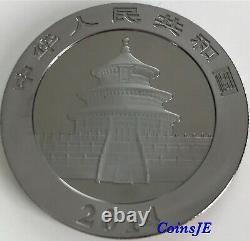 2014 1oz. 999 Silver Chinese Panda Black Rhodium and 24K Gold (Very Rare)
