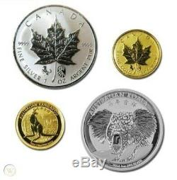 2014 Canada Maple Koala Chinese Lunar Horse Double Privy Gold Silver LAST SET