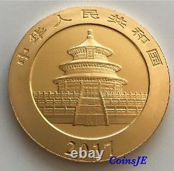 2017 1oz. 999 Chinese Panda 10 Yuan The Famous Capitals Gilded silver coin