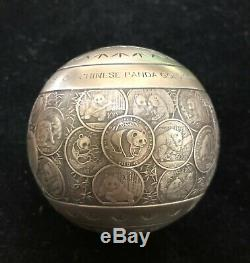 2017 Chinese Panda Gold coin 35th Anniversary Commemorative 888g Silver Sphere