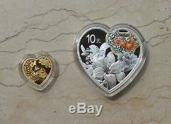 2020 China Gold+Silver Coins Set Chinese Auspicious Culture Bai Nian Hao He