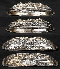 2 Antique Chinese Gold Gilt Silver Qing Ruyi Scepter Plaques Ornaments Scholar