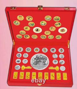 48 New 2020 Chinese Zodiac 24K Gold Silver Plated Medal Coins Set Year of Rat