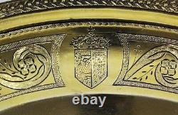 746 Grams Museum Quality Rare Pair Plates Vermeil Chinese Export Gold On Silver