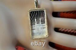9ct gold New chinese dragon bullion pendant with 10g fine silver ingot