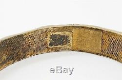 Antique Chinese Export Silver Gilt Carnelian Bracelet Necklace
