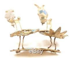 Antique Chinese Qing Kingfisher Feather Jewelry Gold Gilt Silver Duck Goose Old