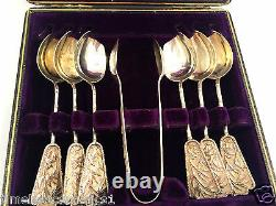 Antque Chinese Export Silver Teaspoons Set Tuck Chang