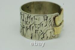 Bespoke Handmade Chinese Style Gold and Silver Band Size T