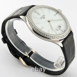 Bovet Fleurier 18KW Gold Diamond Bezel Chinese Dragon Engraving G801 Watch 40mm