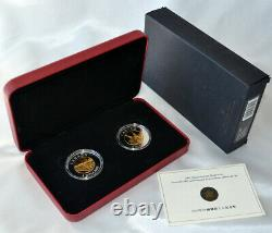 CANADA $8 2005 Silver Gold-Plated Proof Set'Chinese Railway Workers' (2 coins)