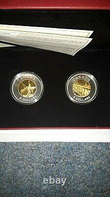 Canada 2005 2 $8 Chinese railway worker coins 64g 99.9 silver/w gold plated core