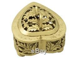 Chinese Export Silver Gilt Potpourri Boxes Antique Circa 1870