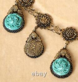 Chinese Export Silver-gilt Lapis Lazuli Bracelet Jewelry China