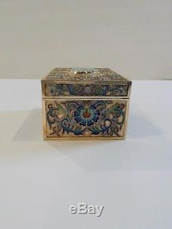 Chinese Gilt Silver Cloisonne Cigarette Box & Ashtrays, Original Fitted Case