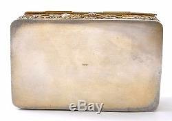 Chinese Gilt Sterling Silver Filigree Rose Quartz Amethyst Agate Carnelian Box