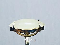Chinese antique white jade gilt silver ring