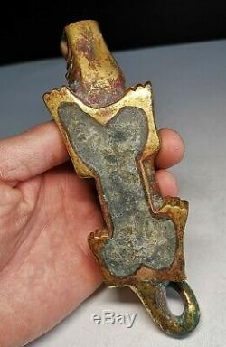 Chinese bronze Tiger weight bronze gilt&silver mat&paper weight tiger statues