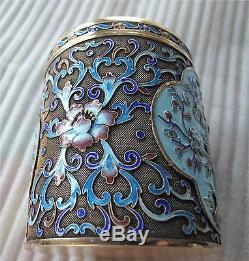 Chinese celadon jade gilded sterling silver enamel tea caddy box jar 332 gr