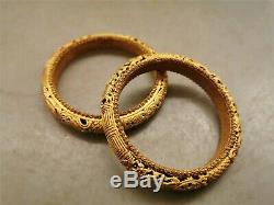 Chinese gilt silver bracelet dynasty hollow bracelet one pair