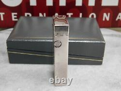 Dunhill Rollagas gas Lighter Gold Silver Chinese Pattern Mirror Finish Full Over