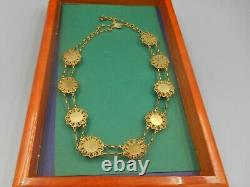 Estate Important Chinese Export Jade Silver Gilt Necklace San Francisco