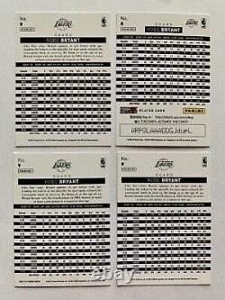 LOT Kobe Bryant 2013-14 Panini China #8 Gold Foil Auto-Silver Holo-Red RARE SSP