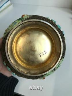 Large Chinese Enameled Gilt Silver PRC Box