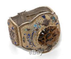 Large Chinese Export Silver-gilt Bracelet Jewelry China