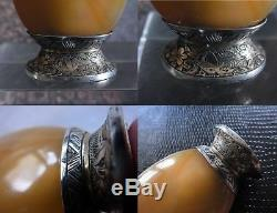 QING Agate Chinese Snuff Bottle Coral Silver Gold by MAQUET Striker Lighter 1800