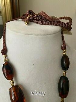 Rafael Sanchez Vintage Amber Pendant with Antique Chinese silver /gold ornament