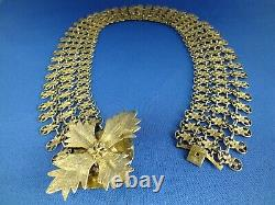 Rare Chinese Silver Gilt Choker Necklace Chain 60+g Probably Early 20th Century