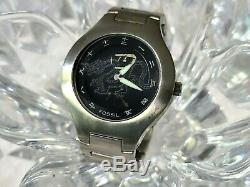Rare Men's Fossil Jr7997 Chinese Asian Kanji Analog/digital Dragon Watch (822)