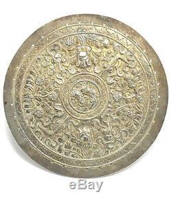 Silver Gilt Peranakan Pillow Ends-Kepala Bandal- Straits Chinese Nonya C. 1900