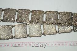 Straits Chinese Peranakan Nyonya Baba Gilt Silver belt