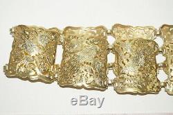 Straits Chinese Peranakan Nyonya Baba Gold Silver belt