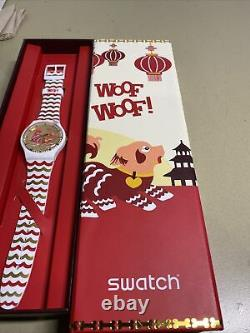 Swatch Chinese New Year Woof Dog Watch 2018 Special Edition New in box