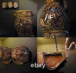 TERRIFIC QING Period High Quality Chinese Bracelet GOLD VERMEIL STERLING SILVER