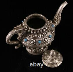 The statue of pure copper gilt silver flagon from the Chinese collection Vintage