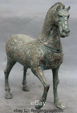 16 Palais De La Dynastie Chinoise Sculpture En Bronze Doré À Motif De Bronze Doré