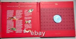1998 Preuve 15 $ Calendrier Chinois #1 Année Tiger Set Canada. 925 Argent Avec Pla D'or