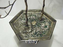 19 C Imperial De Chine Vermeils Émail Jardiniere Pot & Dragons Fish