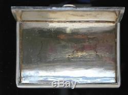 19 Chinese Export Vermeil Case Tabatière Par Kwong Wa