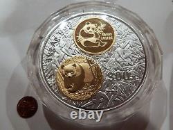 2002 20e Anniversaire De La Série De Pièces En Or Panda Chinois 1kg Kilo D'argent