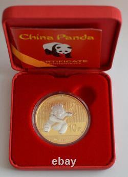 2014 1 Oz 999 Chinois Panda Sélectif Or Argent Monnaie