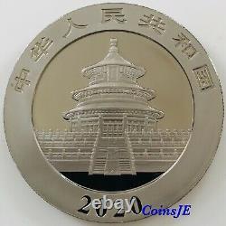 2020 1oz. 999 Chinese Panda Silver Coin Ruthenium & Gold Gilded Empire Ediyion