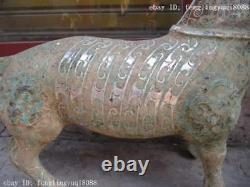21chinese Folk Bronze Art Classique Mouton Chèvre Animal Argent Doré Statue De Cuivre